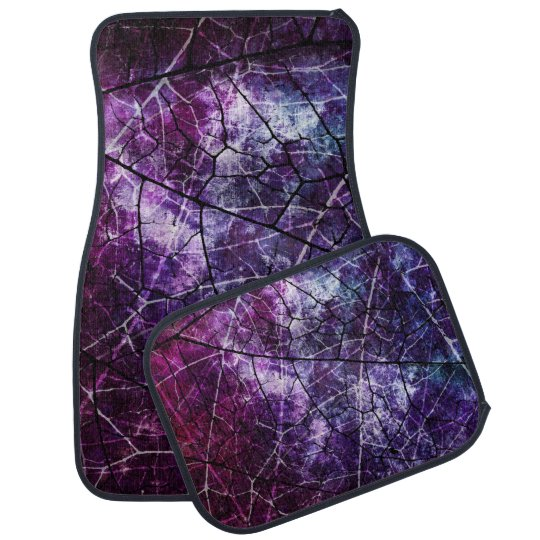 Purple, Blue, and Red Crackle Grunge Texture Car Mat
