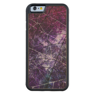 Purple, Blue, and Red Crackle Grunge Texture Carved Maple iPhone 6 Bumper Case