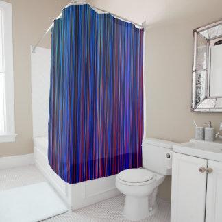 Purple blue aqua green stripe shower curtain