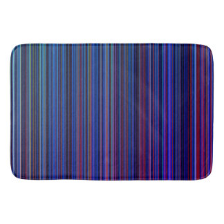 Purple blue aqua  retro  stripe bath mat