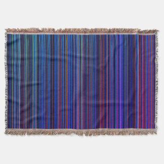 Purple blue aqua retro stripe throw