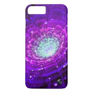 Purple Blue Aqua Rose: Fantasy Fractal Flower Art iPhone 8 Plus/7 Plus Case