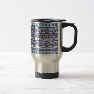 Purple Blue Aztec Stylish Modern Trendy Travel Mug