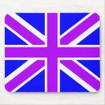 Purple/Blue British Flag/Union Jack Mousepad