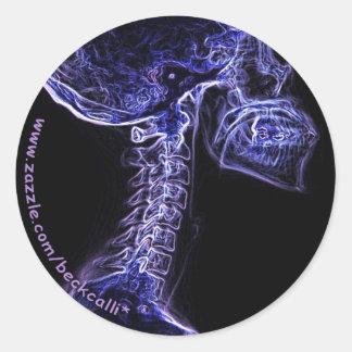 Purple/Blue C-spine sticker