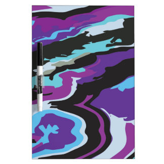 Purple Blue Camouflage Dry-Erase Boards