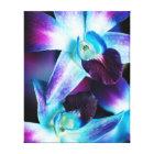 Purple & Blue Dendrobium Orchid Customised Orchids Canvas Print