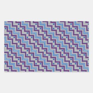 Purple & Blue Diagonal Chevron Rectangular Sticker