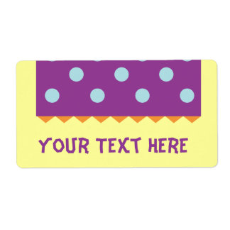 Purple Blue Dots Shipping Label
