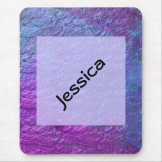 Purple Blue faux texture Mousepad