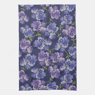 Purple & Blue Floral WatercolourTea Towel