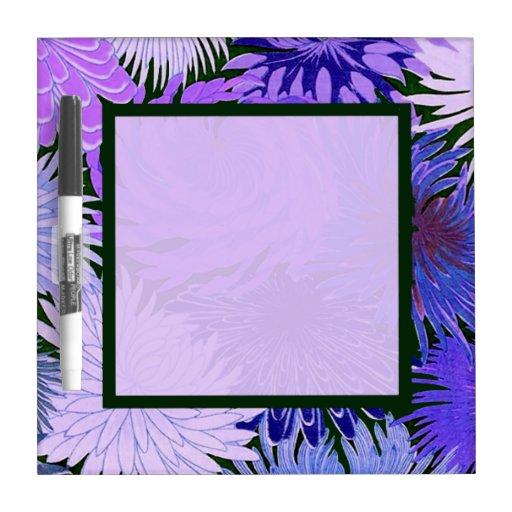 Purple Blue Flowers Dry-Erase Board - Small