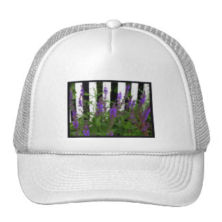 Purple Blue Flowers Fence Cap