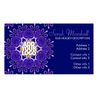 Purple+Blue Geometric Flower Business Card
