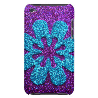 Purple & Blue Glitter Retro Flower iPod Touch Case-Mate Case