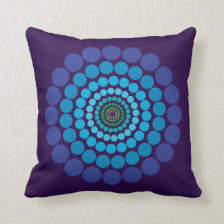 Purple Blue green Circle pattern pillow