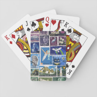 Purple Blue Green Ombre Landscape Playing Cards