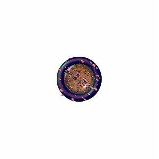 Purple, Blue, Green & Orange Bubbly Lens Photo Sculpture Decoration