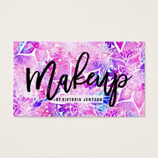 Purple blue henna boho floral mandala Makeup