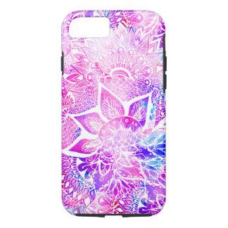 Purple blue henna boho floral mandala pattern iPhone 8/7 case