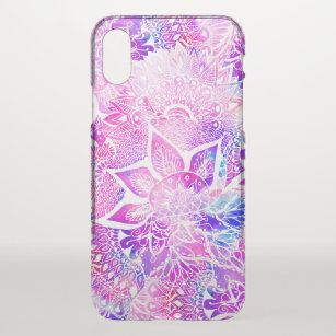 1a5f8bcead8 Purple blue henna boho floral mandala pattern iPhone x case