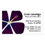 Purple / Blue Hibiscus Flowers Mummy Contact Card Pack Of Standard Business Cards