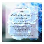 Purple Blue Hydrangea 50th Wedding Anniversary 13 Cm X 13 Cm Square Invitation Card