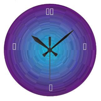 Purple Blue Illuminated >Patterned Wall Clock