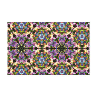 Purple/Blue Kaleidoscope Triangle Psychedelic Snap Gallery Wrap Canvas