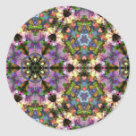 Purple/Blue Kaleidoscope Triangle Psychedelic Snap Round Sticker