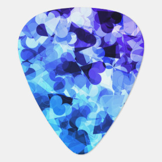 Purple Blue Kawaii Hearts Plectrum