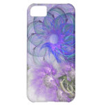 Purple & Blue Lacy Flower Fractal Design