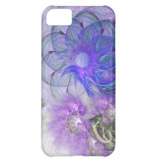 Purple & Blue Lacy Flower Fractal Design iPhone 5C Case