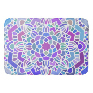 Purple Blue Mandala Bath Mat