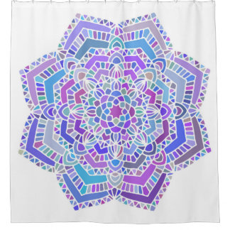 Purple Blue Mandala Shower Curtain