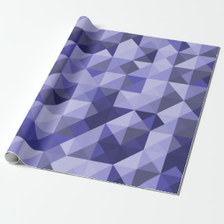 Purple Blue Mosaic Pattern Wrapping Paper