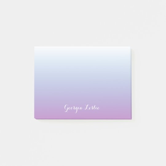 Purple Blue Ombre Gradient Personalised Post-it Notes