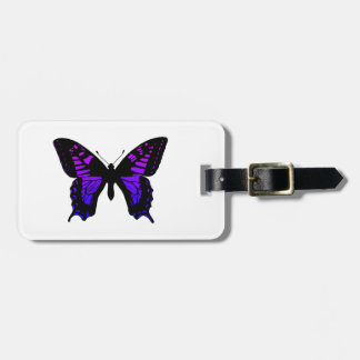 Purple Blue Ombre Wing Butterfly Luggage Tag