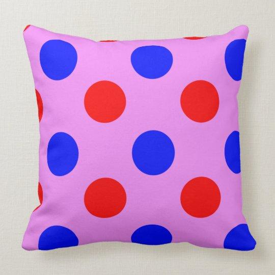 Purple,Blue & Red, Polka dot Vector illustration. Throw