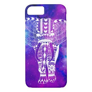 Purple & Blue Space Nebula & Tribal Elephant iPhone 8/7 Case