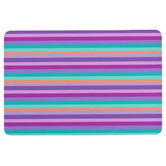 Purple, Blue Stripes   Floor Mat