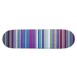 Purple Blue Stripes Pattern Custom Skateboard