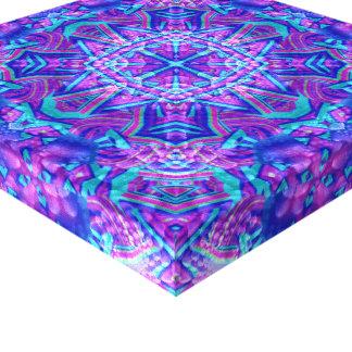 Purple & Blue Vintage Kaleidoscope  Wrapped Canvas