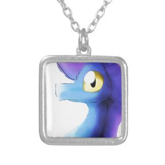 Purple/Blue Watercolor Dragon 1 Personalized Necklace