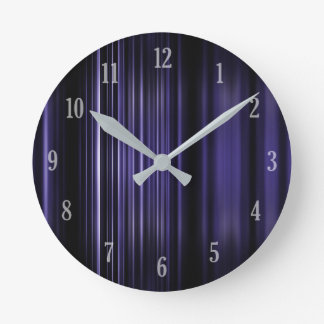 Purple blurred stripes pattern wallclock