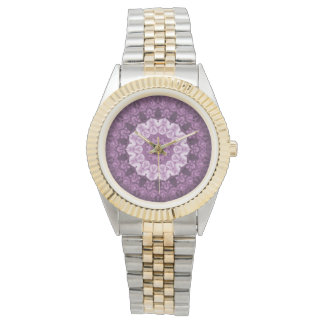Purple Boho Chic Abstract Kaleidoscope Watch