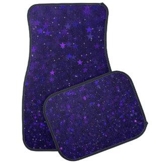 Purple Bokeh Stars Car Mat