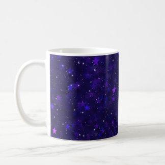 Purple Bokeh Stars Coffee Mug