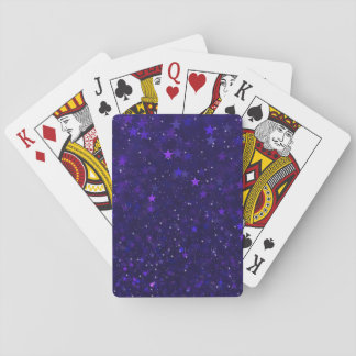 Purple Bokeh Stars Playing Cards