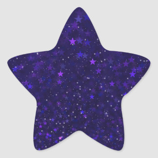 Purple Bokeh Stars Star Sticker